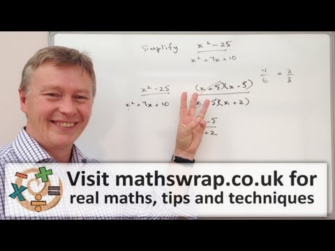 3 Minute Math - Simplifying Algebraic Fractions