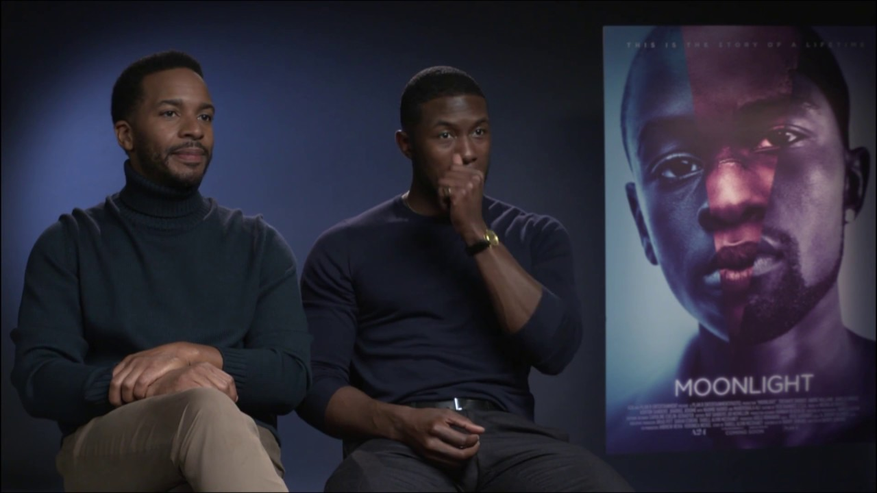 Moonlight Movie's Trevante Rhodes & Andre Holland don't read ...