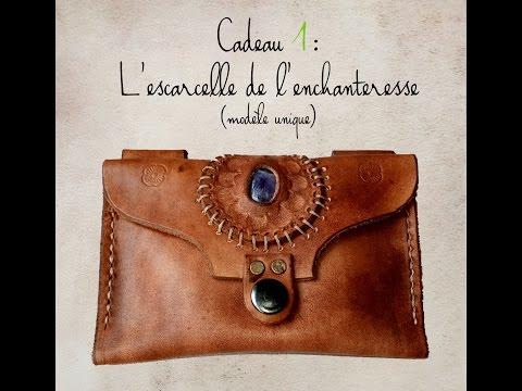 fabriquer un portefeuille en cuir partie 4 couture by cr a cuir. Black Bedroom Furniture Sets. Home Design Ideas