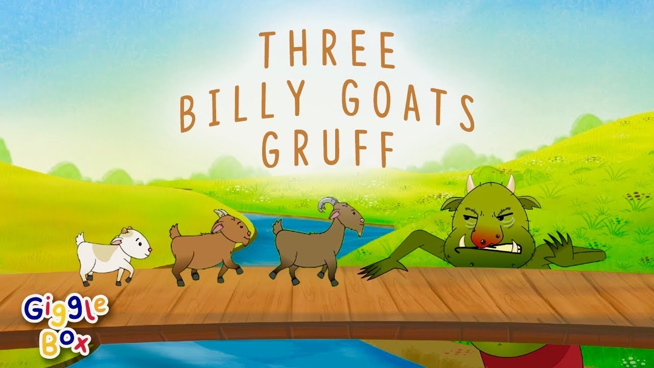 The Three Billy Goats Gruff | Fairy Tales | Gigglebox - YouTube