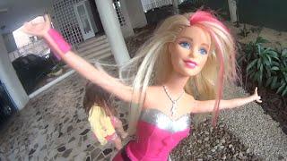 Barbie Boneca Super Princesa Princess Power Pink e a Borboleta Mágica Dolls Toys Juguetes Kids