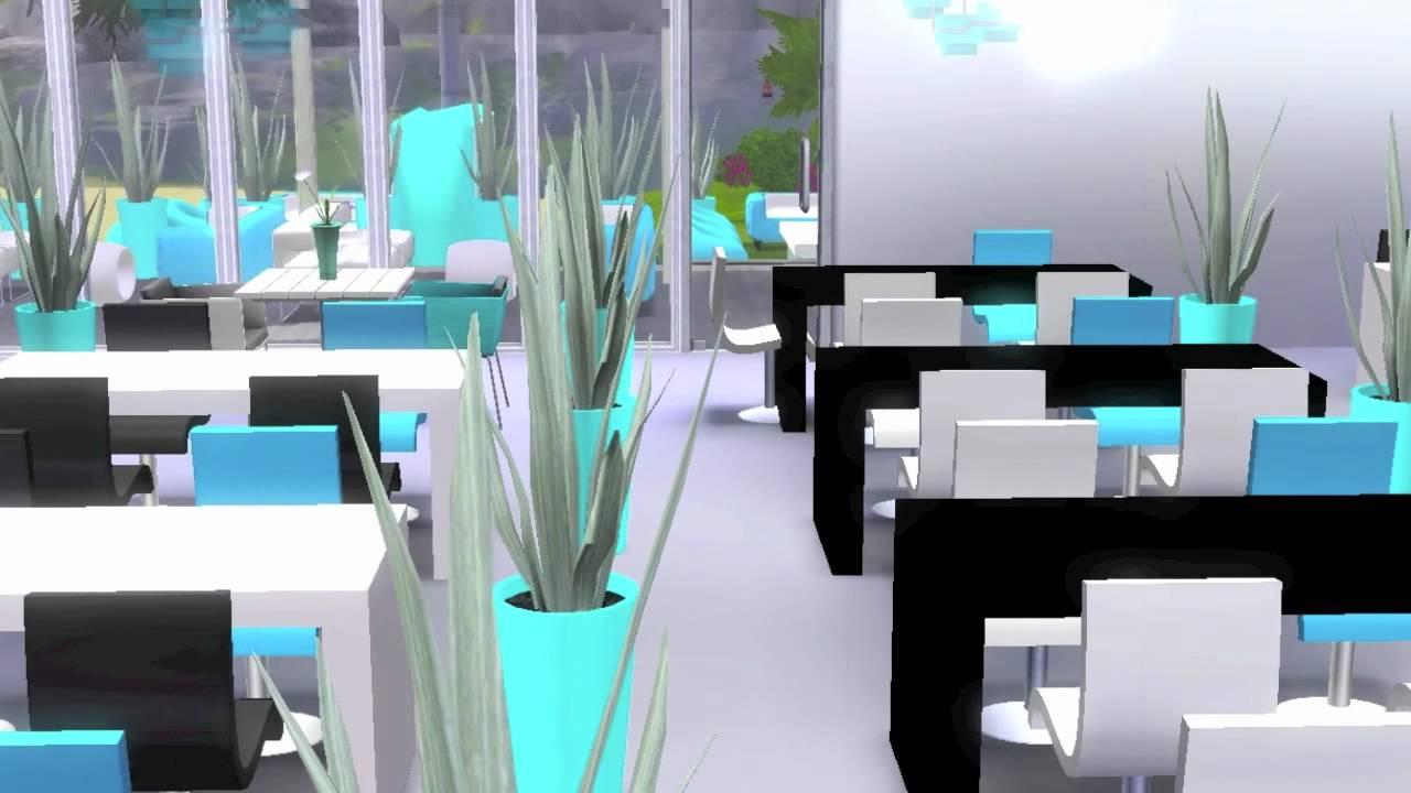 The sims 3 artio beach bar restaurant youtube for Sims 3 cuisine moderne