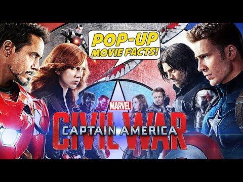 CAPTAIN AMERICA: CIVIL WAR - Pop-Up Movie Facts (2016) Chris Evans, Chadwick Boseman Superhero movie