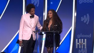 Beyoncé And JAY-Z Accept Vanguard Award At GLAAD Media Awards!