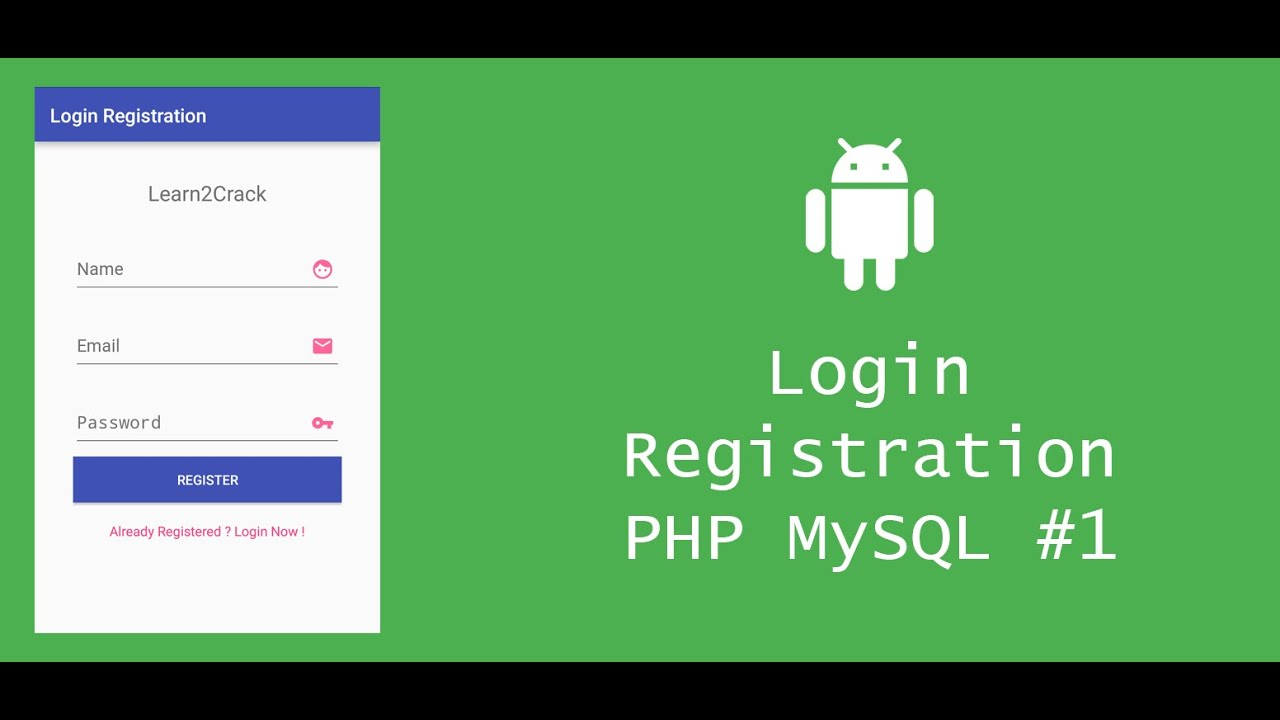 Android Login Registration System with PHP and MySQL - Server