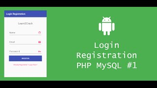 Android Login Registration System with PHP and MySQL - Server #1