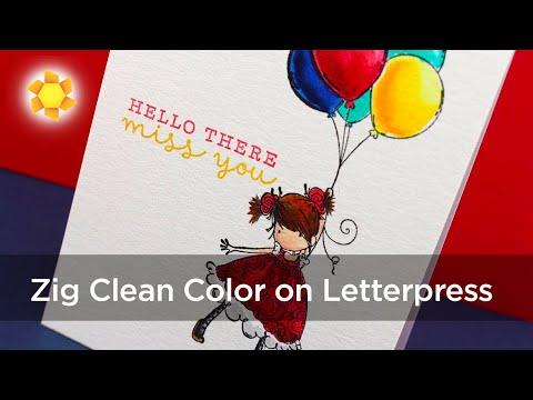 Zig Clean Color Pens on Letterpress Paper