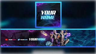 [FREE] FORTNITE YOUTUBE BANNER + LOGO TEMPLATE DOWNLOAD LINK *FREE*