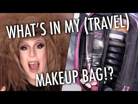 """WHAT'S IN MY (TRAVEL) MAKEUP BAG!? — My """"On The Road"""" Essentials"""