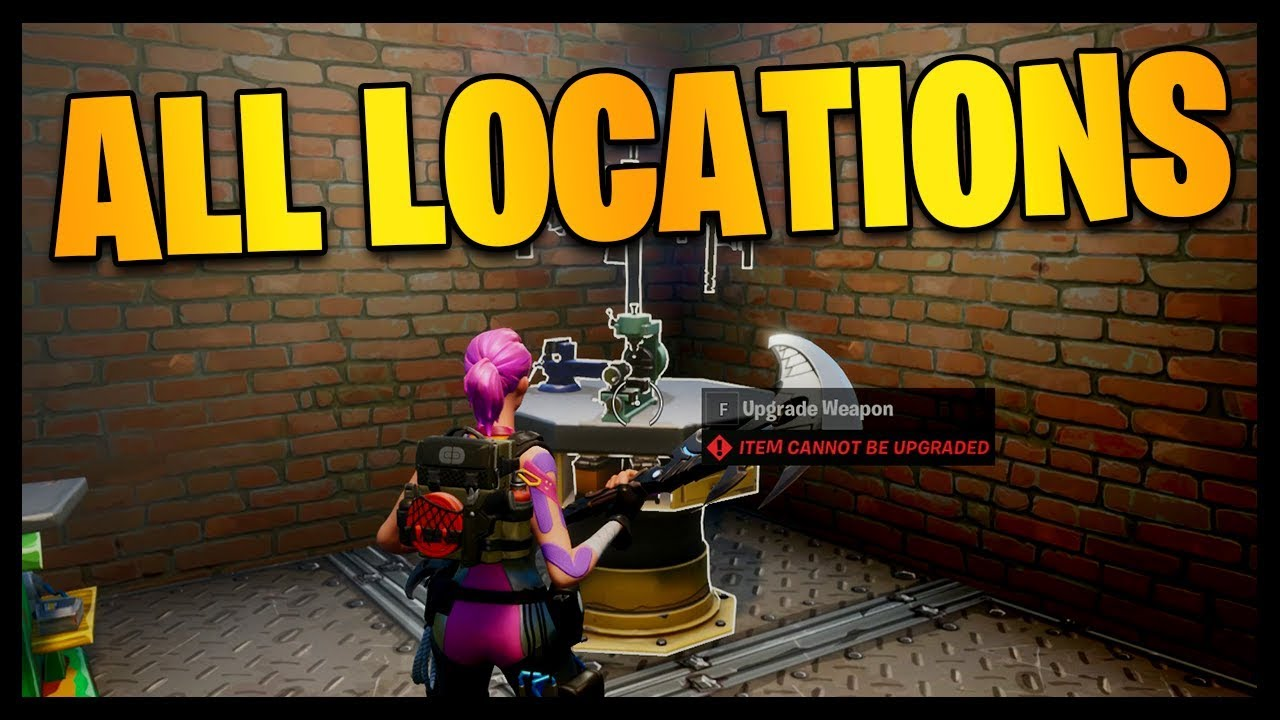 Fortnite All Weapon Upgrade Bench Locations Chapter 2 Location Guide