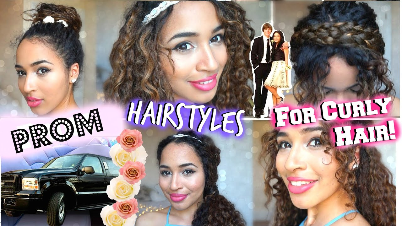 Promformal Hairstyles For Curly Hair Youtube