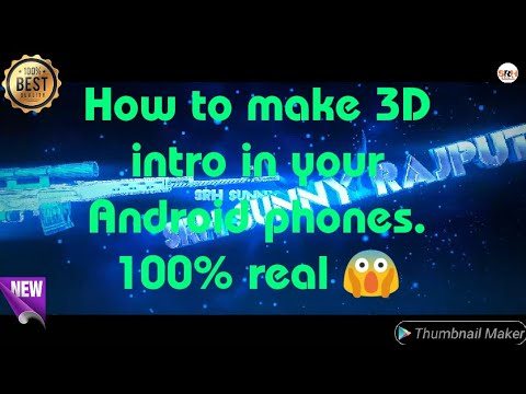 3d intro maker android