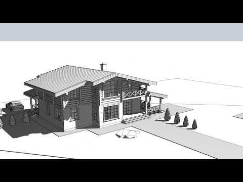 Проект дома в стиле Шале площадью 224 м2