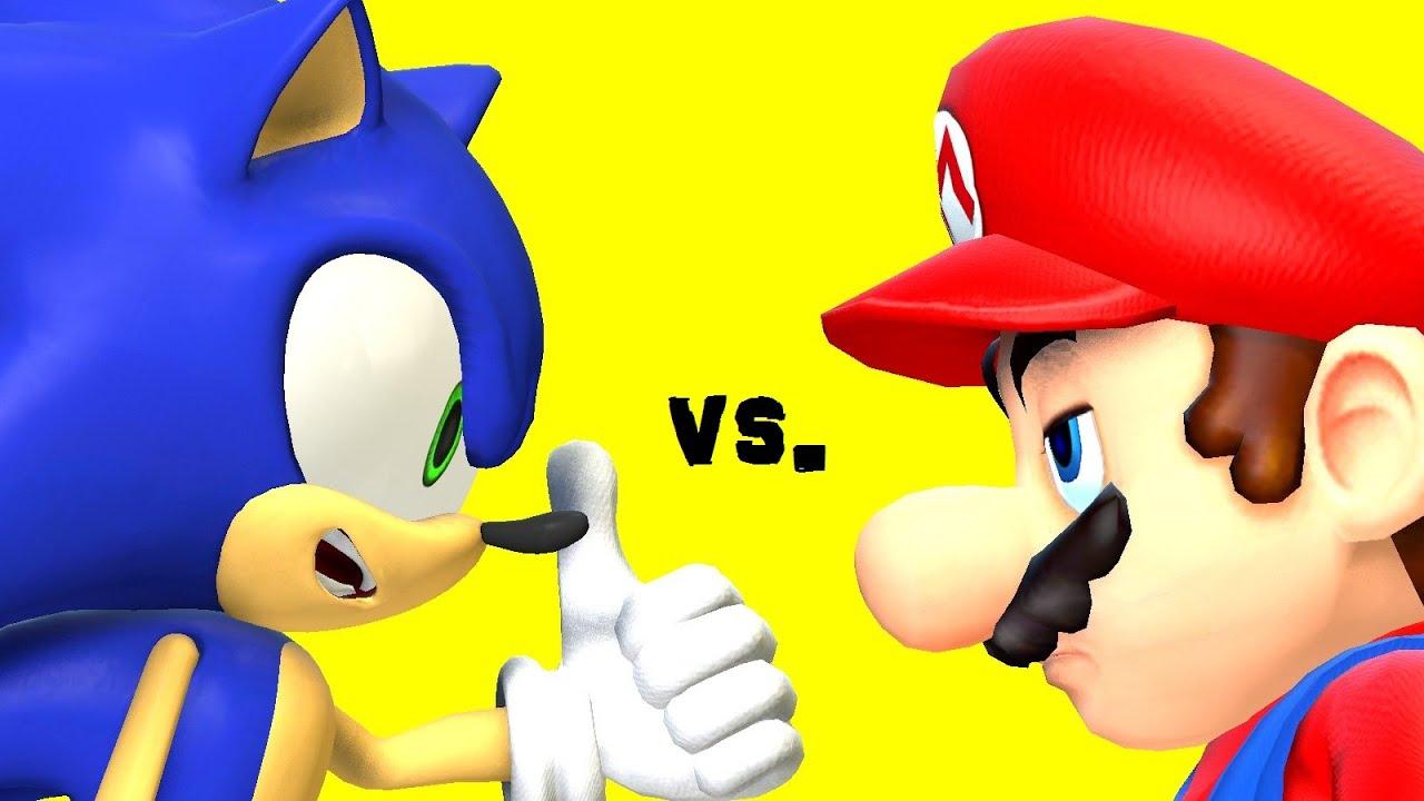 Squishy Duck Super Mario Maker 4 : Sonic vs. Mario: Pokemon Battle (SSB4 Machinima) - YouTube