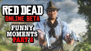 FUNNY/GLITCH MOMENTS P2 - RED DEAD REDEMPTION 2 ONLINE
