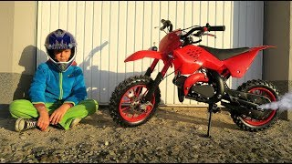 Funny Baby Unboxing, Assembling and Ride on New Dirt Cross Bike mini