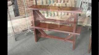 Rustic--trestle Tables-benches-southwest Unique Designs