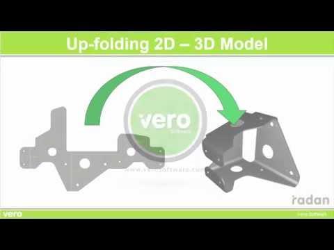 Up-Folding 2D to 3D Model in RADAN Конвертация модели из 2D в 3D