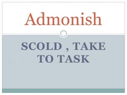 MEANING OF ADMONISH