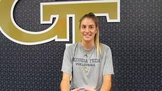 Fighting Peaches: Georgia Tech volleyball Mariana Brambilla interview 9.4.18 #sportsinquirer