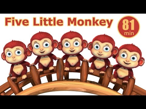 Five Little Monkey Jumping In The Pond | Nursery Rhymes from