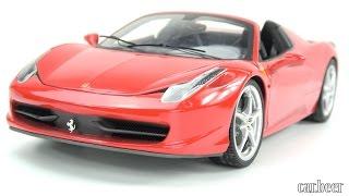 1/18 Hot Wheels Elite Ferrari 458 Spider review - 4K high quality video