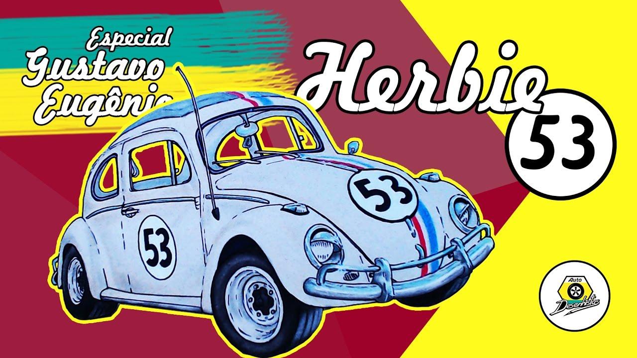 Desenho De Fusca: Como Desenhar Um Fusca (Herbie)
