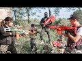 LTT Game Nerf War : Winter GIRL Warriors SEAL X Nerf Guns Fight Criminal Group Rocket Man