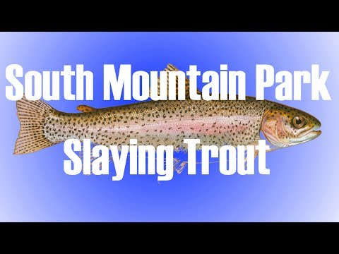 NC Fly Fishing - 42 Trout On Nymph - South Mountain State Park Must See