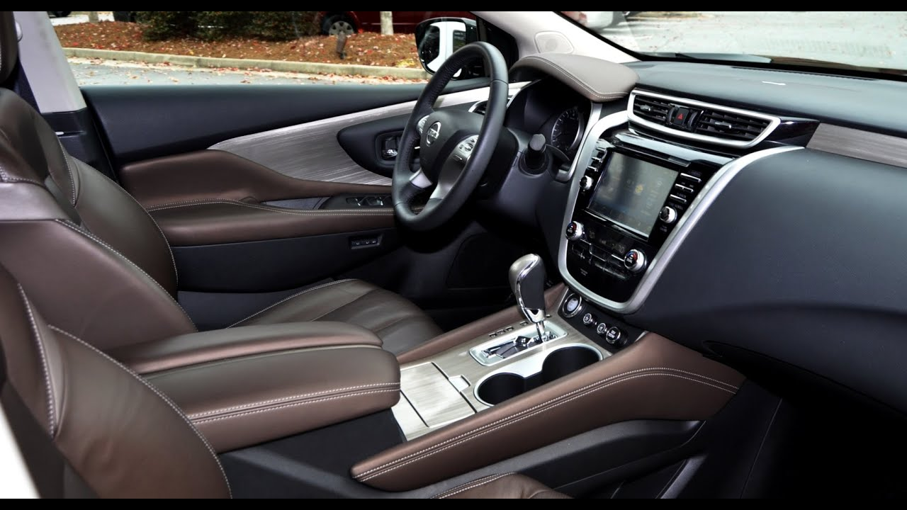 2015 Nissan Murano Platinum AWD Interior overview - YouTube