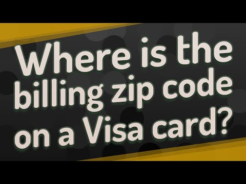 Where Is The Billing Zip Code On A Visa Card?