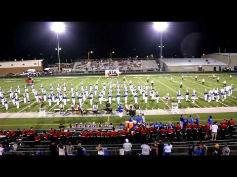 Ripley High School Viking Marching Band Field Show 9/2012