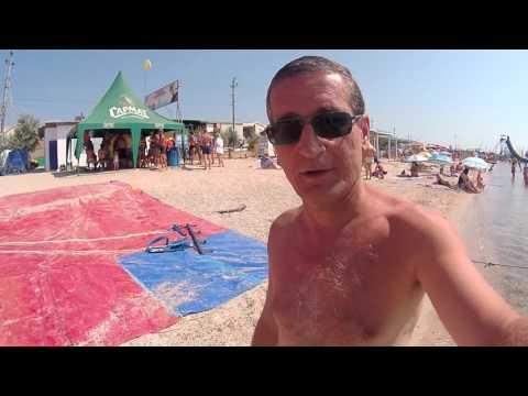 Пляж Лиски - пляж Бердянска 2016/видео обзор