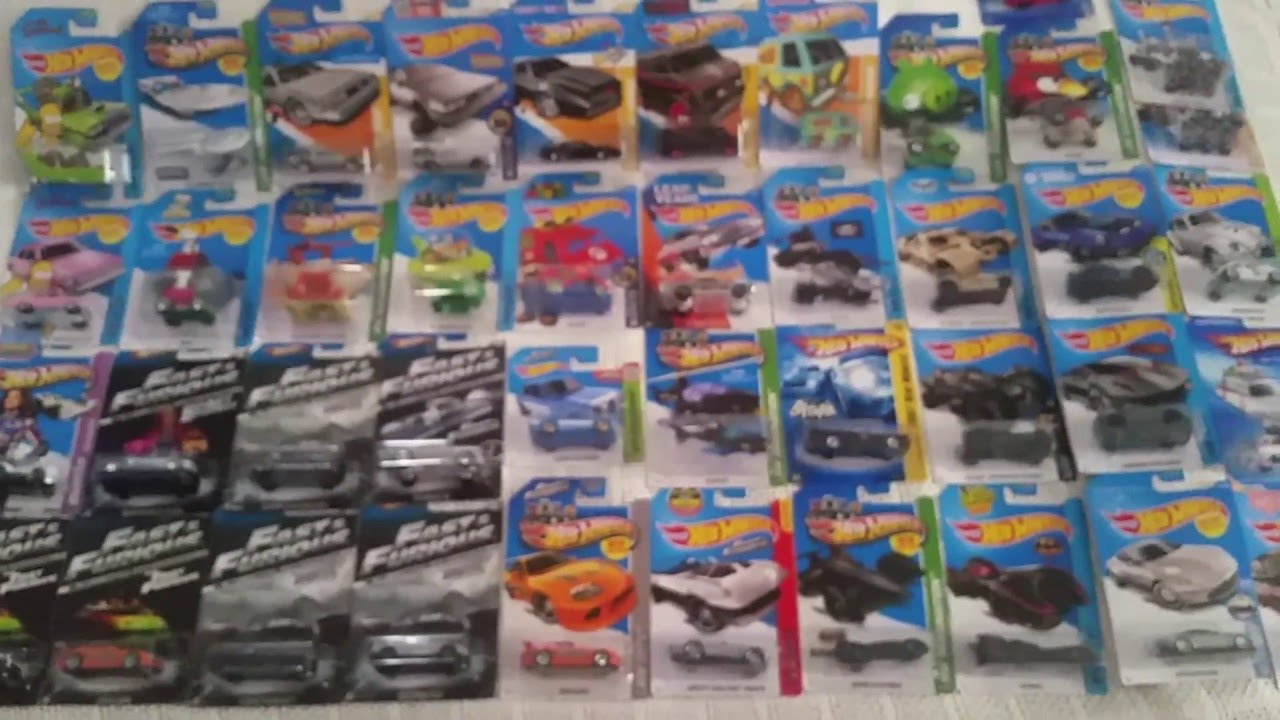 2016 hot wheels movie and tv car collection update youtube