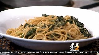 Stephanie & Tony's Table: Wheat Spaghetti With Swiss Chard