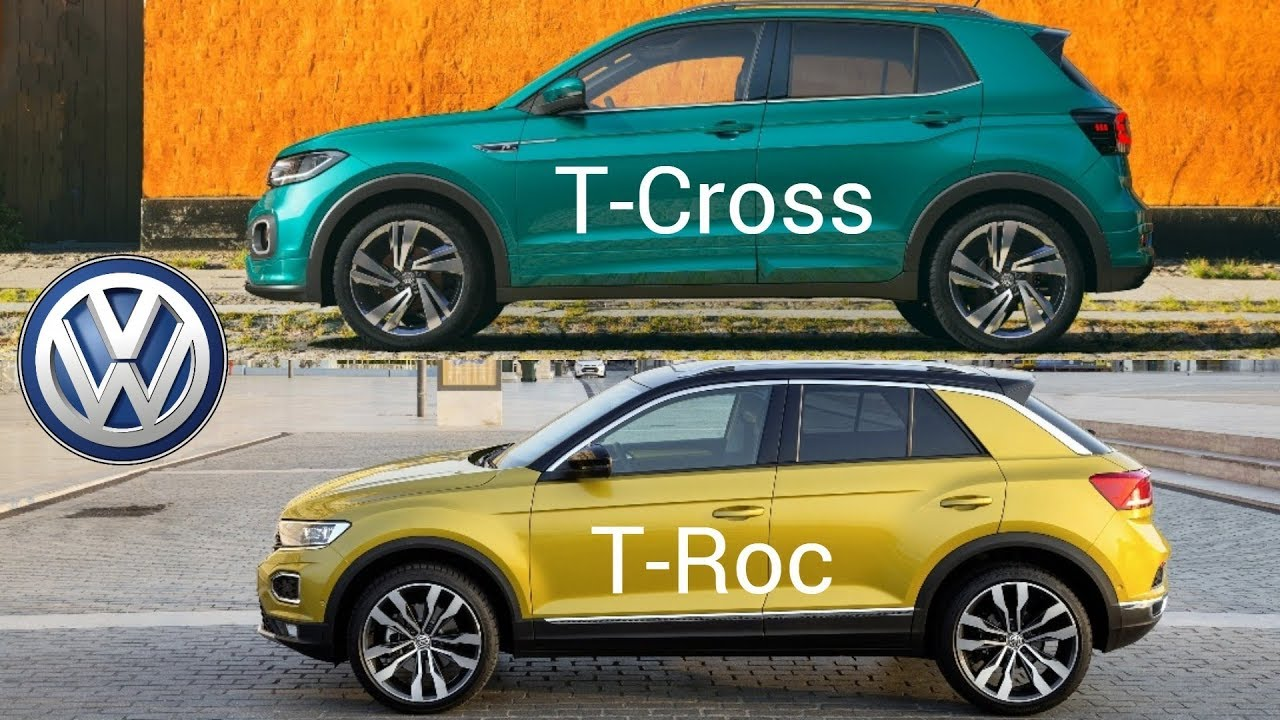 volkswagen t cross vs vw t roc youtube. Black Bedroom Furniture Sets. Home Design Ideas