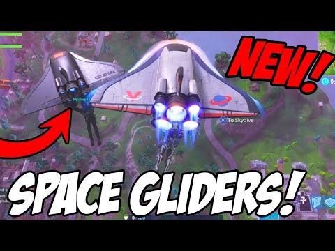 """""""NEW"""" ORBITAL SHUTTLE/DEEP SPACE LANDER GLIDER GAMEPLAY! (Fortnite Battle Royale)"""