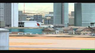 fsx philippine airlines b747 crosswind landing take off in an aircraft carrier