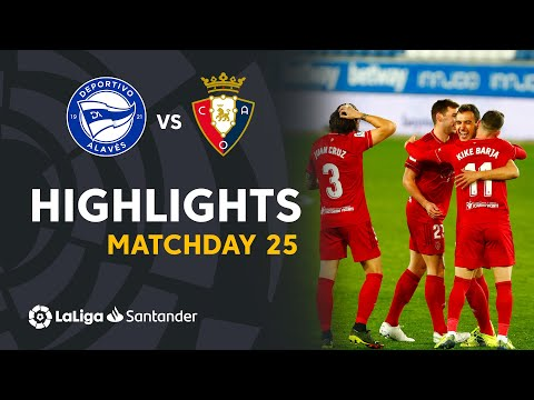 Highlights Deportivo Alavés vs CA Osasuna (0-1)