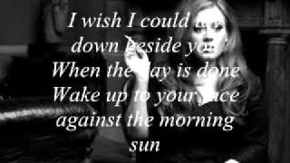 Adele Adkins -  Hiding my heart (with lyrics on screen)