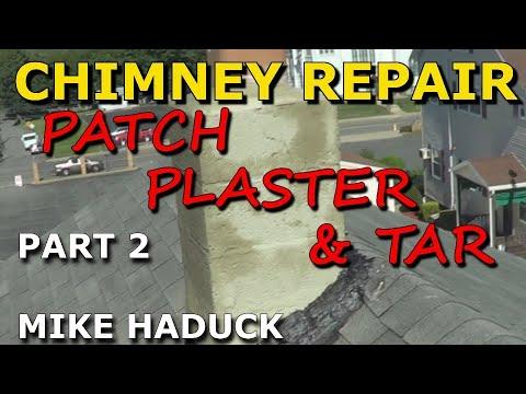 Chimney Repair Part 2 Of 9 Parge Amp Tar Mike Haduck