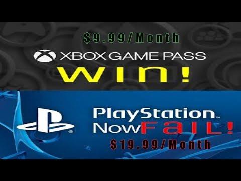 Xbox Game PASS Destroys PS4's PSNow