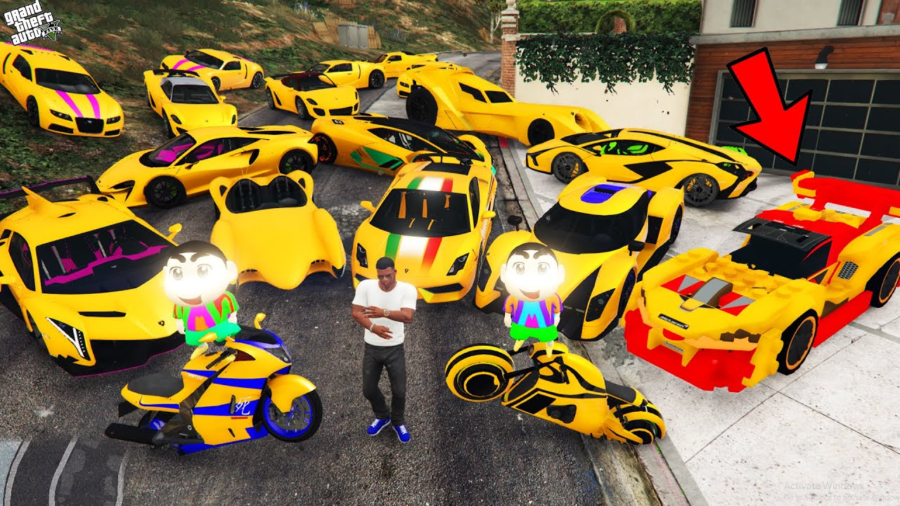 Download GTA 5 : Franklin And Shinchan Become Richest Person Stealing Golden Cars in GTA 5 ! (GTA 5 mods)