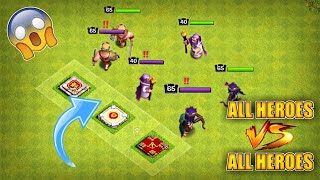 BARBARIAN KING VS ARCHER QUEEN VS BATTLE MACHINE VS GRAND WARDEN||WHO WILL WIN?||CLASH OF CLANS||