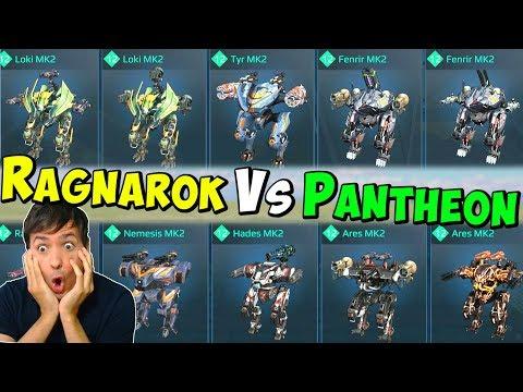 RAGNAROK VS PANTHEON Hangar Mk2 War Robots LIVE Gameplay WR