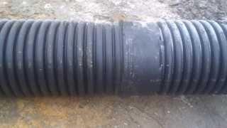 Гофрированная труба. Пример недостатков интегрированного раструба.(, 2013-12-16T12:18:48.000Z)