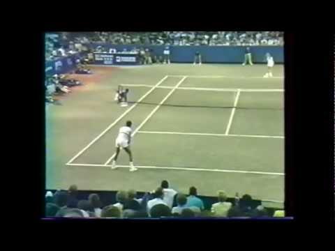 Yannick Noah vs Martin Jaite 1985 Washington 2/2