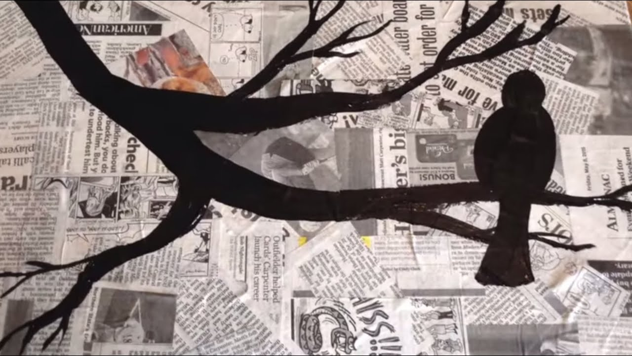 The Crafting Coach: learn how to make newspaper silhouette