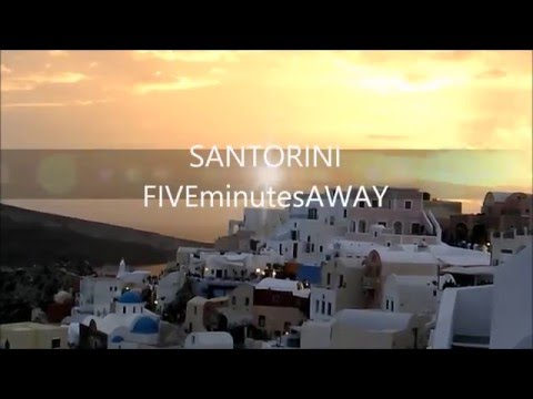 SANTORINI - TALL SHIPS IN SUNSET