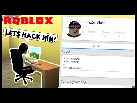 HACKING MY CREEPY STAKLER! - Roblox